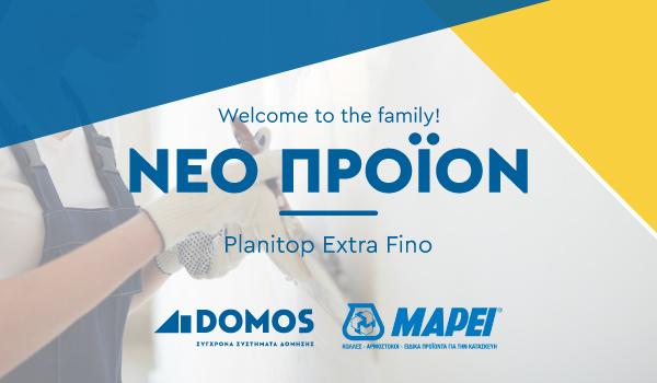 Ακρυλικός στόκος σπάτουλας Planitop Extra Fino από τη Mapei